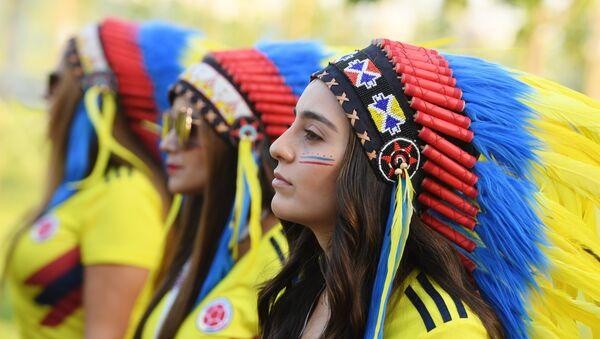 Hinchas de la selección de Colombia en el Mundial de Rusia - Sputnik Mundo