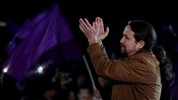 El líder de la coalición izquierdista Unidas Podemos (UP), Pablo Iglesias - Sputnik Mundo