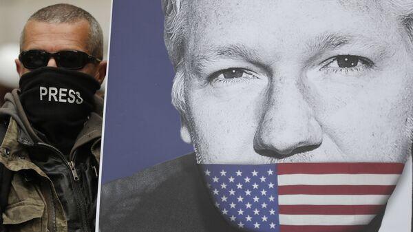 El retrato de Julian Assange - Sputnik Mundo