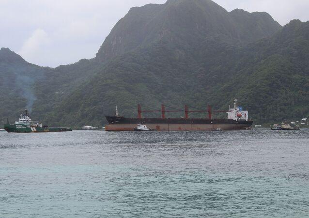 El barco de Corea del Norte Wise Honest