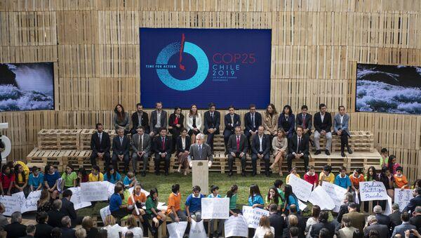 Presidente de Chile, Sebastian Piñera, durante el lanzamiento oficial de la COP 25 - Sputnik Mundo