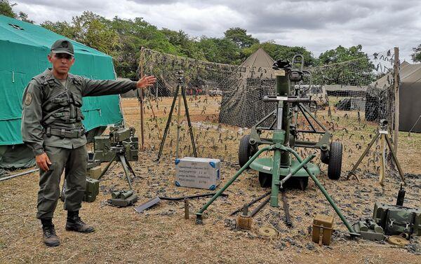 Primer Teniente, Jesús Salcedo. Sistema de Mortero SANI 120 mm. 31 Brigada de Infantería Mecanizada - Sputnik Mundo