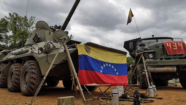 Los blindados en el campamento de la Academia Militar Bolivariana de Venezuela - Sputnik Mundo