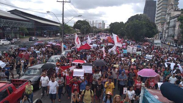 Movilización contra los recortes de la educación en Belém, Estado de Pará - Sputnik Mundo