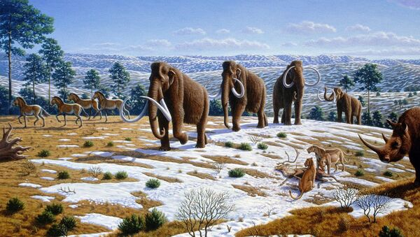 Un paisaje del Pleistoceno tardío en el norte de España (ilustración) - Sputnik Mundo