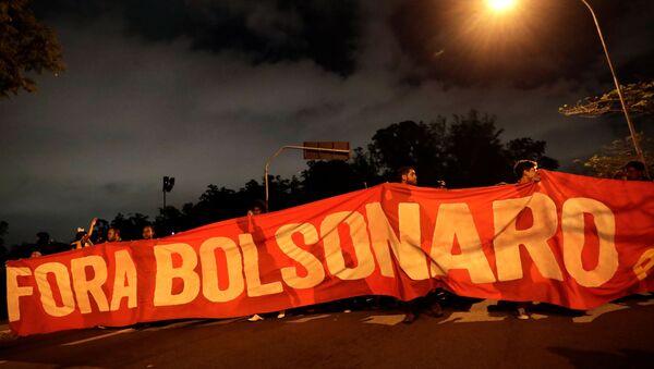 Protesta en Sao Paulo, Brasil - Sputnik Mundo