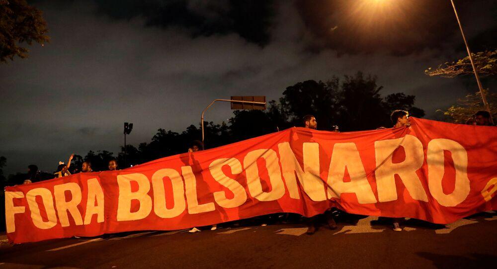 Protesta en Sao Paulo, Brasil