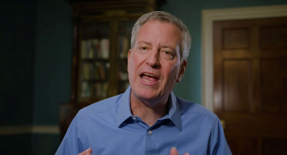El alcalde de Nueva York, el demócrata Bill de Blasio