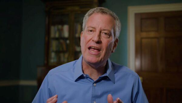 El alcalde de Nueva York, el demócrata Bill de Blasio - Sputnik Mundo