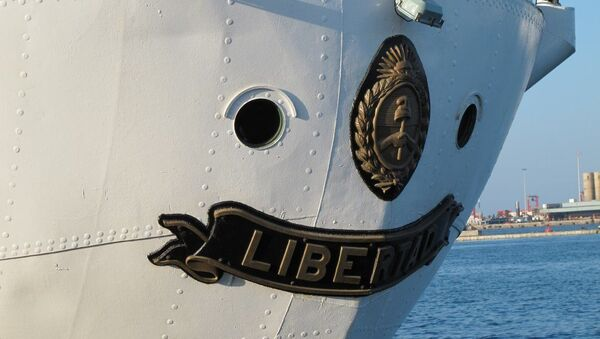 La fragata Libertad, el buque escuela de la Armada Argentina - Sputnik Mundo