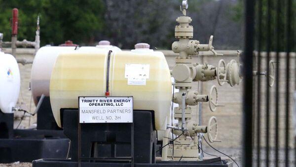 Componentes para una operación de fracturación hidráulica en EEUU - Sputnik Mundo
