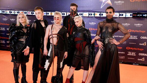El grupo Hatari, en la alfombra roja de Eurovisión - Sputnik Mundo
