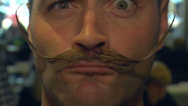 Barbas y bigotes para todos los gustos, Amberes acoge un increíble campeonato - Sputnik Mundo