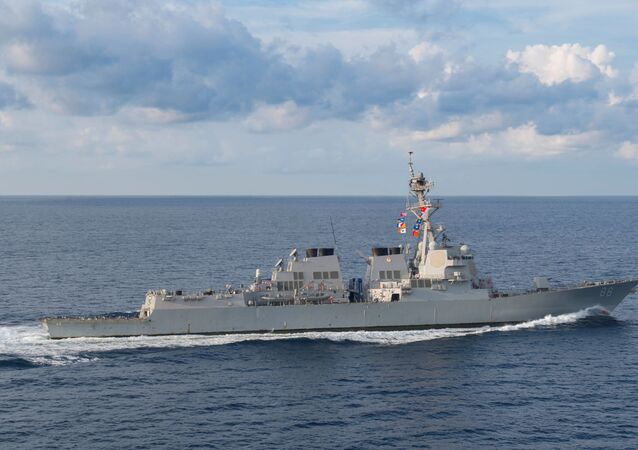 El destructor de misiles guiados USS Preble