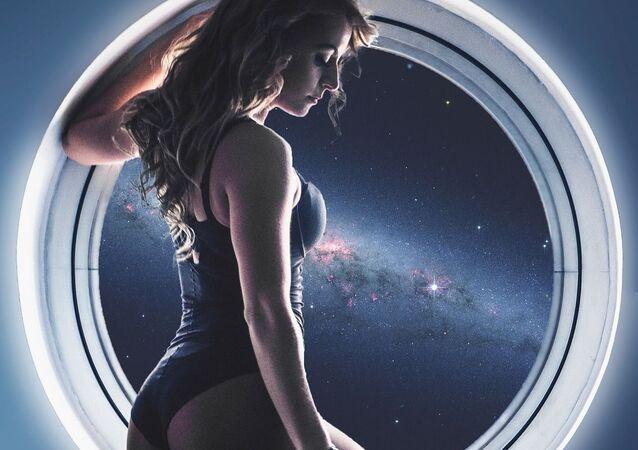 Una mujer en una nave espacial (ilustración artística)