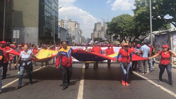 Movilización chavista en Caracas (archivo) - Sputnik Mundo