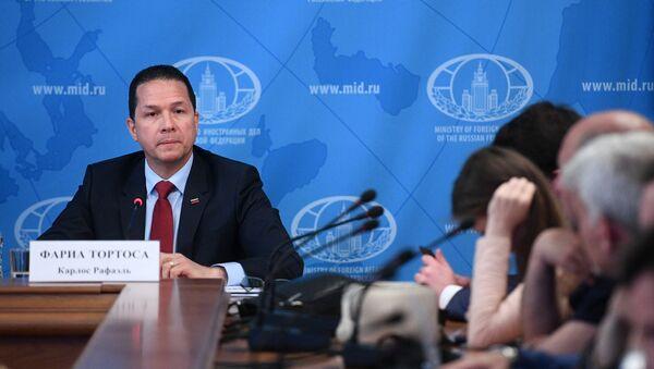 Carlos Rafael Faría Tortosa, embajador de Venezuela en Rusia - Sputnik Mundo