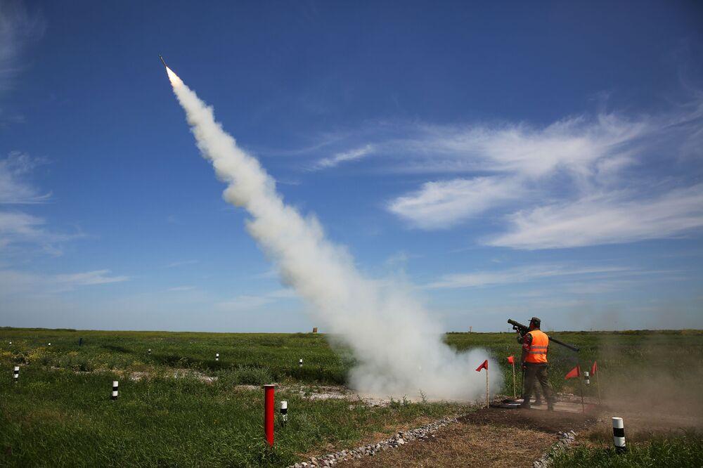 Sistemas antiaéreos innovadores se lucen en el concurso militar ruso 'Cielo despejado'