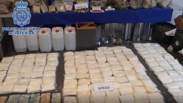 La Policía Nacional española incauta la mayor cantidad de metanfetamina de su historia - Sputnik Mundo