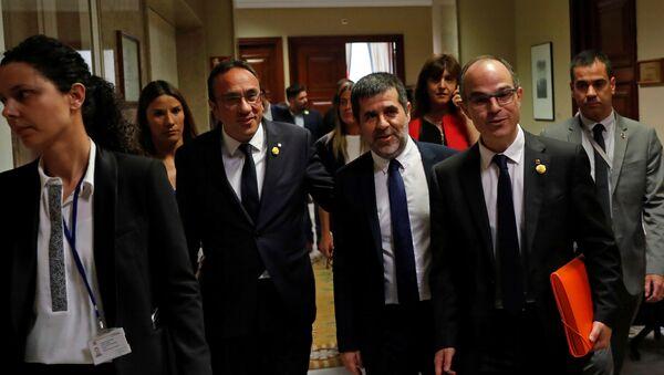 Presos independentistas Josep Rull, Jordi Sànchez and Jordi Turull - Sputnik Mundo