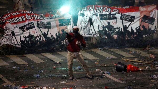 Protestas en Indonesia - Sputnik Mundo
