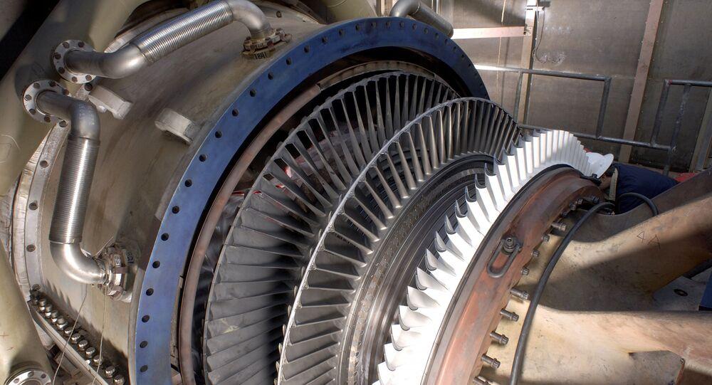 Una turbina de gas