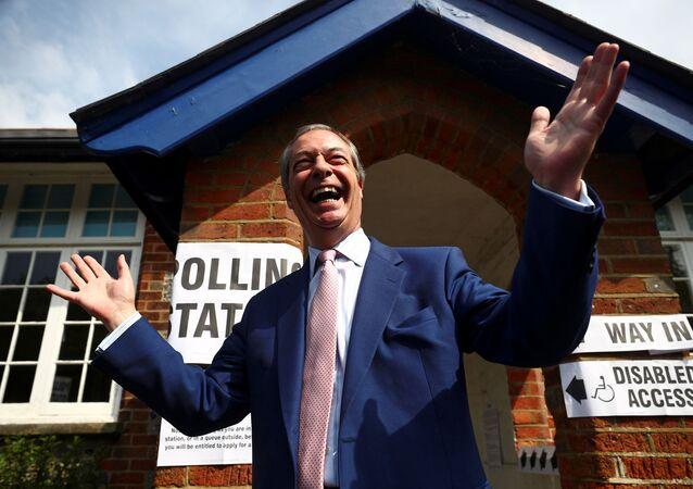 El líder del Partido Brexit, Nigel Farage