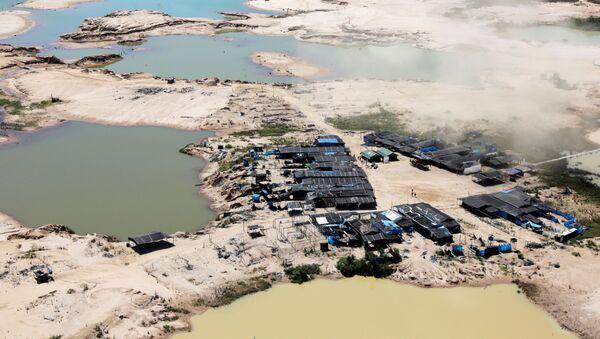 El campo minero en Perú - Sputnik Mundo