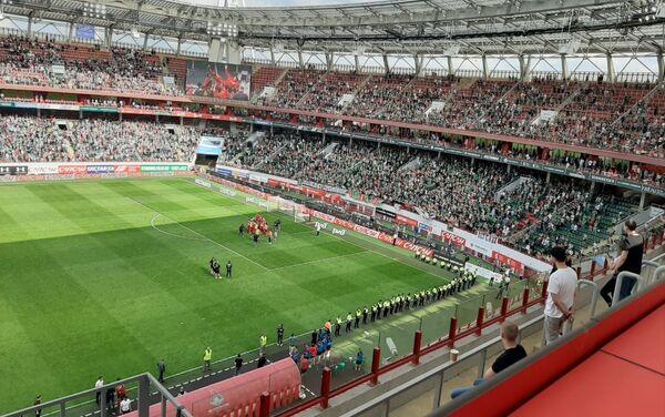 Instante del encuentro FC Lokomotiv vs FC Ufá, en la última fecha de la temporada 2019 - Sputnik Mundo