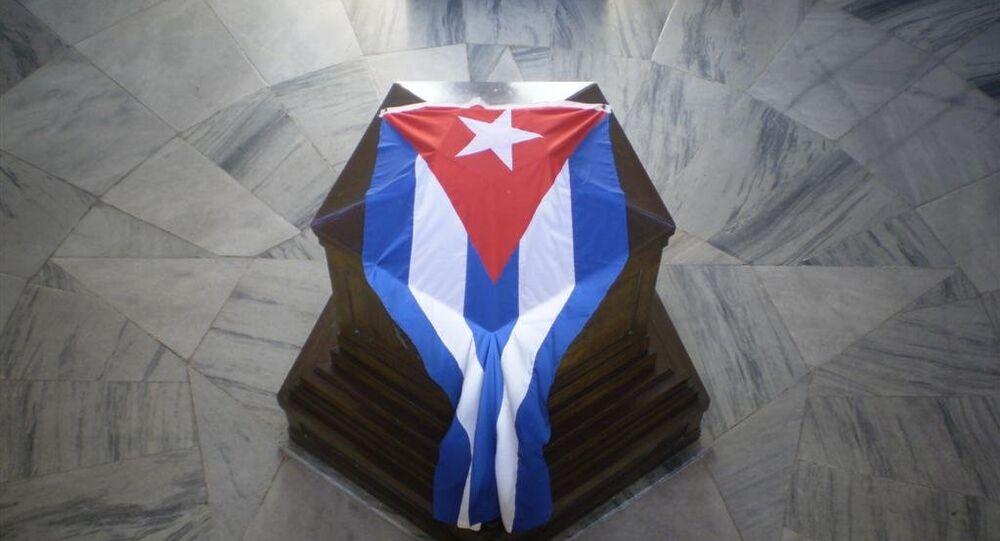 Tumba de José Martí en el cementerio de Santa Ifigenia en Santiago de Cuba