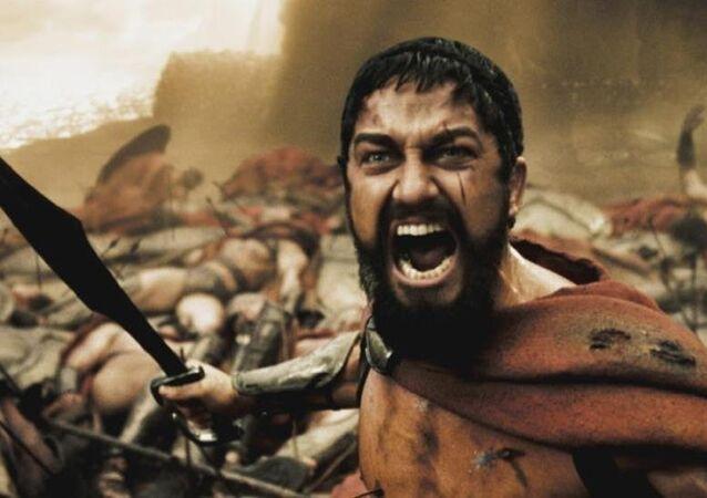 Gerard Butler protagoniza al rey Leonidas en la película '300'