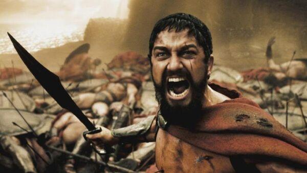Gerard Butler protagoniza al rey Leonidas en la película '300' - Sputnik Mundo