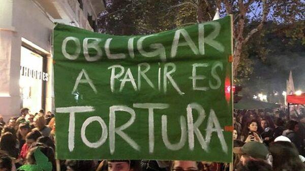 Apoyo a la presentación por octava vez del proyecto de legalización del aborto en Argentina - Sputnik Mundo