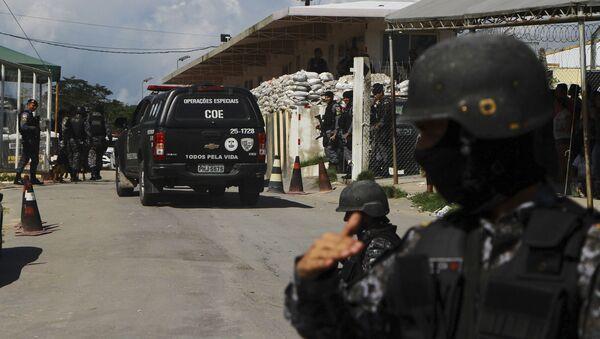 La Policía de Brasil cerca de la prisión en en Manaos - Sputnik Mundo