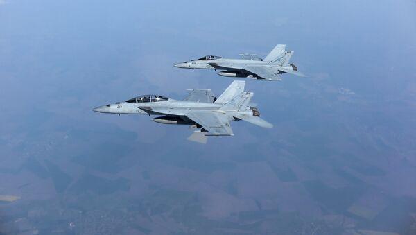 Dos F/A-18 Super Hornet (archivo) - Sputnik Mundo