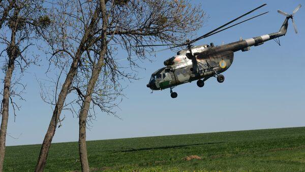 Un helicóptero Mi-8 de la Fuerza Aérea de Ucrania (archivo) - Sputnik Mundo