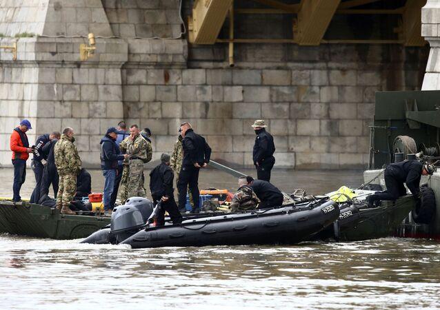 Lugar del naufragio en Budapest
