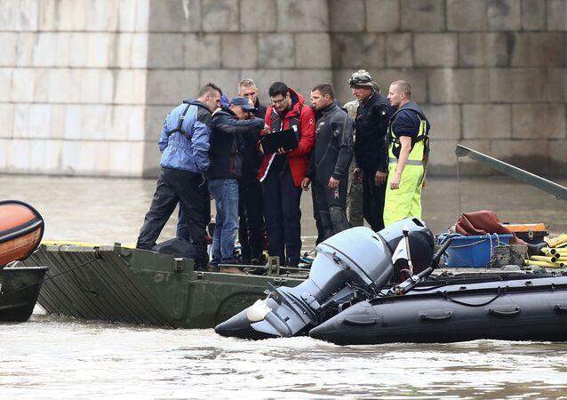 Lugar del naufragio en Budapest, Hungría