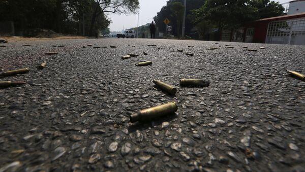 Unas balas en una carretera en México (imagen referencial) - Sputnik Mundo