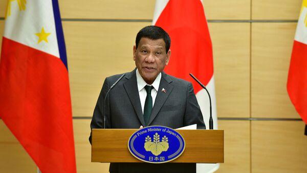 El presidente de Filipinas, Rodrigo Duterte - Sputnik Mundo