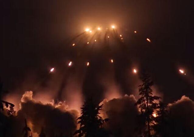 Maniobras de artillería finlandesa