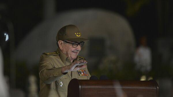 El general Raúl Castro, primer secretario del Comité Central del Partido Comunista de Cuba - Sputnik Mundo