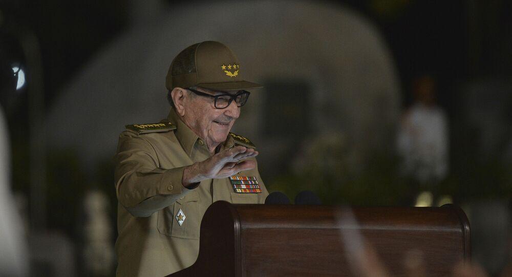 El general Raúl Castro, primer secretario del Comité Central del Partido Comunista de Cuba