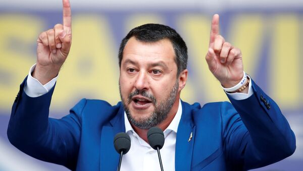 Matteo Salvini, vicepresidente del Gobierno de Italia  - Sputnik Mundo
