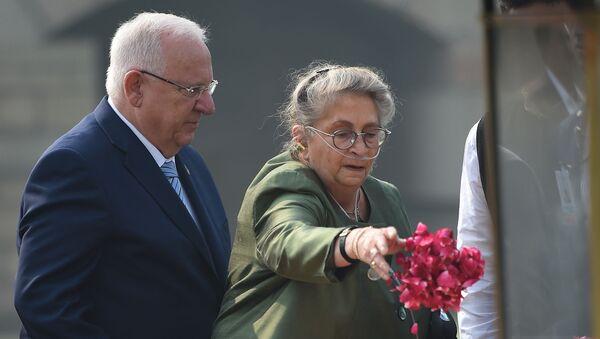 El presidente de Israel, Reuven Rivlin, con su esposa, Nechama Rivlin - Sputnik Mundo