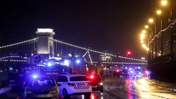 El lugar del naufragio en Budapest - Sputnik Mundo