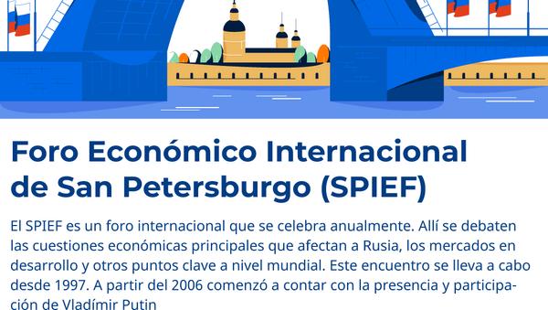 El Foro Económico Internacional de San Petersburgo 2019 - Sputnik Mundo