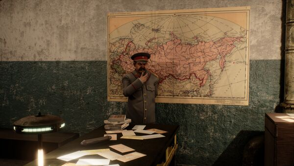 Captura de pantalla del videojuego 'Sex with Stalin' - Sputnik Mundo
