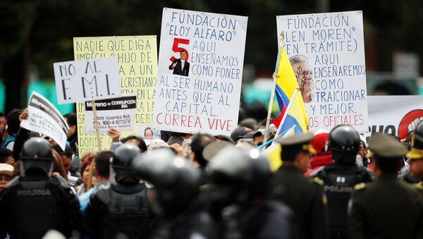 Una manifestación en Quito, Ecuador - Sputnik Mundo