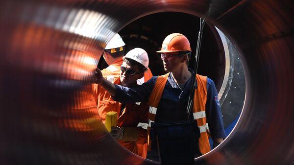 Construcción del gasoducto Nord Stream 2 - Sputnik Mundo